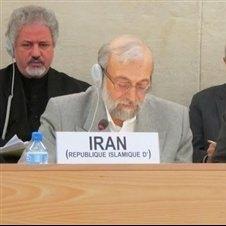 لاریجانی: برغم پشرفت ها در ارتقاء حقوق بشر، ایران با برخورد دوگانه، سیاسی و گزینشی مواجه است