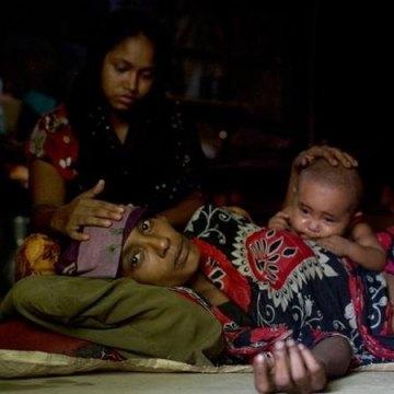 زنان و کودکان مسلمان میانمار، زیرتیغ آتش نظامیان