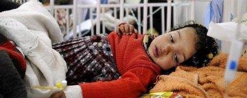 خطر همهگیری وبا، اسهال حاد و مالاریا در میان کودکان یمنی