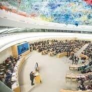 قرائت بیانیه سازمان تحت آیتم 3 با موضوع تحریم و نقض حق تحصیل و حق توسعه