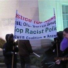 ������������������������������������������ - اعتراض مقابل وزارت دادگستری واشنگتن به تبعیض نژادی
