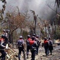 استان-راخین-میانمار - بیش از 40 مسلمان در حملات جدید بوداییان کشته شدند