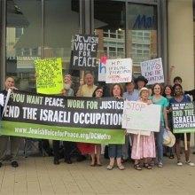 اعتراض فعالان حقوق بشر به همکاری شرکت آمریکایی و رژیم صهیونیستی - تجمع