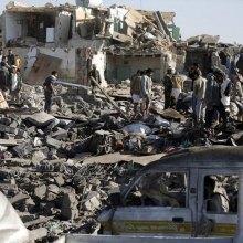 ������������ - حمله جنگندههای ائتلاف عربستان به منطقه رازح یمن