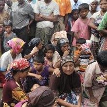 استان-راخین-میانمار - آتش زدن صدها ساختمان متعلق به مسلمانان در میانمار