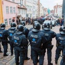 پناهنده - تظاهرات پناهجویان در اعتراض به اخراج از آلمان