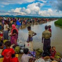 مسلمان - دیدار نمایندگان شورای امنیت از اردوگاه روهینگیاییها