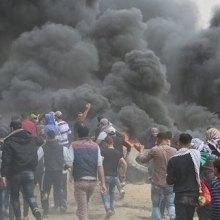 غزه - هفتمین جمعه تظاهرات