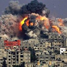 بمباران - حمله جنگندههای رژیم صهیونیستی به غزه