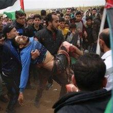 یک شهید و ۲۲۰ زخمی در تظاهرات غزه