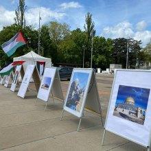 نمایشگاه عکس و تجمع گرامیداشت روز قدس در ژنو - فلسطین